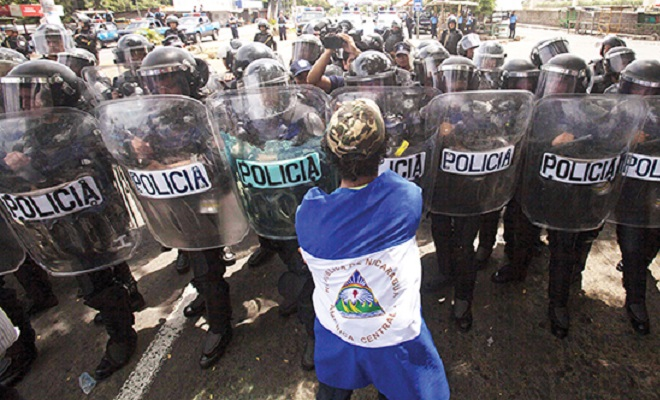 UNAS 200 PERSONAS PARTICIPAN EN OTRA MARCHA POR COMICIOS LIMPIOS EN NICARAGUA
